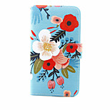 Flower Pattern PU Leather Full Body Case with Stand and Card Slot for LG G5