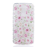 Roses Pattern Tpu Material Highly Transparent Phone Case For LG K7 K8 K10 G5