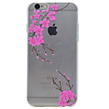 TPU Material Small Pink Fowers Pattern Painting Phone Soft Shell for iPhone 7 Plus 7 6s Plus 6 Plus 6S 6 SE 5s 5