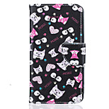 Black Cat Pattern Painting PU Material Phone Cover For LG LG K10 K8 K7