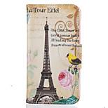 Für Kreditkartenfächer / Geldbeutel / mit Halterung / Muster Hülle Handyhülle für das ganze Handy Hülle Eiffelturm Hart PU - Leder LGLG