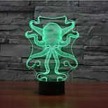 poulpe touchez gradation 3d conduit de lumière de nuit lampe atmosphère décoration 7colorful éclairage nouveauté lumière de Noël