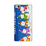 For Huawei P9 P9 lite P8 P8 lite Christmas Snowman TPU Soft Case Cover