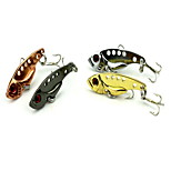 1 pcs Vibration/VIB Vibration/VIB Black / Pink / White / Yellow 3.2 g Ounce mm inch,Metal Bait Casting