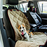 Cat / Dog Car Seat Cover Pet Mats & Pads Waterproof / Portable / Soft Black / Brown / Beige Plush
