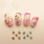 60Pcs  Gold And Silver Two Colors Snowflakes Nail Art Act The Role Ofing Is Tasted Ultrathin Model
