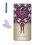 For Samsung Galaxy S7 Edge S6 Translucent Pattern Case Back Cover Case Mandala Soft TPU  S7 Edge Plus S6 Edge Plus S6 Edge S7