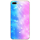 Heart Peach Sky Pattern TPU Material Case for iPhone 7 7 Plus