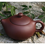 Dark-Red Enameled Pottery Teapot