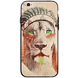 Animal Lion Pattern Acrylic&TPU Soft Case Back Cover For iPhone 6s Plus 6 Plus iPhone 6s 6 iPhone SE 5s 5