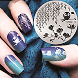 Manicure Night Owl Printing Template Pattern