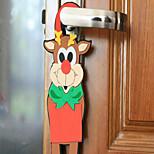 la nueva puerta de dibujos animados de Navidad colgar una espuma eva adornos de color al azar para la Navidad