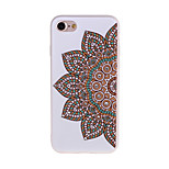 Para Funda iPhone 7 / Funda iPhone 7 Plus Diamantes Sintéticos / Congelada / Diseños Funda Cubierta Trasera Funda Flor Suave TPU Apple