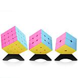 Yongjun® Cube velocidade lisa 2*2*2 / 3*3*3 / 4*4*4 Velocidade / profissional Nível Alivia Estresse / Cubos Mágicos Rosa Etiqueta lisa
