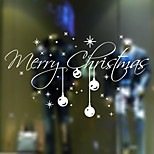 Christmas Home Decor Wall Stickers Funny Party Kids Gift Sticker Shop Store Window Random Color