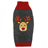 Dog Coat / Shirt / T-Shirt / Sweater / Outfits Gray Dog Clothes Winter / Summer / Spring/Fall Animal Cute / Sports / Fashion / Christmas Reindeer