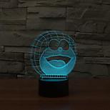 doraemon toque escurecimento 3D conduziu a luz da noite 7colorful decoração atmosfera lâmpada de luz de Natal iluminação novidade