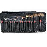 18 Makeup Brushes Set Goat Hair Portable Wood Face NFSS