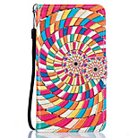 Color Flower Pattern PU Leather Full Body Case with Stand for Lenovo Vibe K5