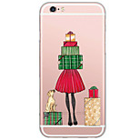 Christmas Pattern TPU Ultra-thin Translucent Soft Back Cover for iPhone 7 7Plus 6s 6 Plus 5s 5 5E