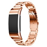 Replacement Strap Band Genuine Stainless Steel Bracelet Sturdy Smart Watch Band Strap for Fitbit Charge 2