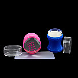 New Manicure Transparent Nail Seal Handle Full Penetration Seal Head 4cm Large Seal Head With Plastic Handle