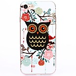 Black Cartoon owl TPU Protection Back Cover Case for iPhone 7/7 Plus/6S/6Plus/SE/5S