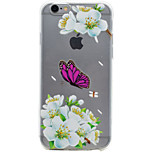 TPU Material Butterfly & Flower Pattern Painting Phone Soft Shell for iPhone 7 Plus 7 6s Plus 6 Plus 6S 6 SE 5s 5