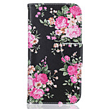 Peony Pattern Leather PU Leather Material Leather Phone Case for  Motorola Moto G4 Plus / MOTO G4