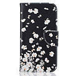 Small White Flowers Pattern Leather PU Leather Material Leather Phone Case for  Motorola Moto G4 Plus / MOTO G4