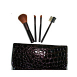 4 Makeup Brushes Set Nylon Portable Wood Face NFSS