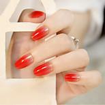 24Pcs The Gradient Round Head Nail Strips Fashion And Elegant Temperament Beauty 1Set