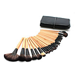 32 Makeup Brushes Set Synthetic Hair Professional / Portable Wood Handle Face/Eye/Lip Black