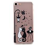 Für iPhone 7 Hülle / iPhone 6 Hülle / iPhone 5 Hülle Ultra dünn / Muster Hülle Rückseitenabdeckung Hülle Katze Weich TPU AppleiPhone 7