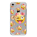 Cartoon expression TPU Case For Iphone 7 7Plus 6S/6  6Plus/6S Plus