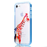 Para Funda iPhone 7 / Funda iPhone 6 / Funda iPhone 5 Transparente / Diseños Funda Cubierta Trasera Funda Animal Suave TPU AppleiPhone 7