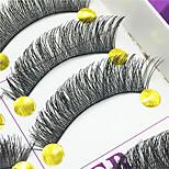 Eyelashes lash Full Strip Lashes Eyes Thick Lifted lashes Handmade Fiber Black Band 0.10mm 12mm