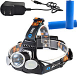1000 Lumen CREE XM-L T6 LED Headlamp Headlight Caming Hunting Rotate Head Lamp 4 Modes 2*18650 Battery  AC Charger