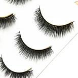 Eyelashes lash Full Strip Lashes Eyes Thick Handmade Fiber Black Band 0.07mm 12mm
