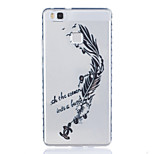 Feather Pattern Tpu Material Highly Transparent Phone Case For Huawei P9 P9 Plus Y5II Y6II