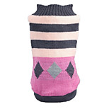 Cat / Dog Sweater Pink Dog Clothes Winter / Spring/Fall Stripe Casual/Daily