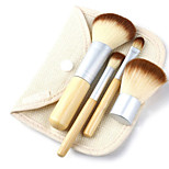 4 Blush Brush / Eyeshadow Brush / Brow Brush / Eyeliner Brush Professional / Travel / Full Coverage Wood
