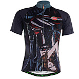 Sports Cycling Jersey Men's Short Sleeve Breathable / Quick Dry / Front Zipper / Soft / Comfortable Bike Jersey