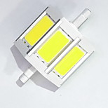 R7S 78mm COB SMD 6W Warm White / Cool White 600LM 220Beam Horizontal Plug Lights  Flood Light AC85-265V