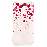 Heart Pattern TPU Relief Back Cover Case for Moto G4 Play