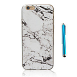 Retro Granite Marble Grain Pattern Soft TPU Phone Case Cover for For iPhone 7 7 Plus 6 Plus 6s 6 SE 5s 5 and Stylus