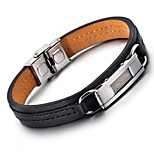 Kalen®2016  New  Tough Leather Bracelet Fashion 316 Stainless Steel Charm Bracelets Men's Fashion Accessory s Christmas Gifts