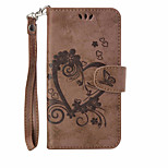 For Wallet / Card Holder / with Stand / Embossed Case Full Body Case Heart Hard PU Leather Motorola MOTO G4 / Moto G4 Plus