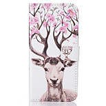 For  iPhone 7 7 Plus  6s 6 Plus  SE 5S 5 5C Card Holder Flip Deer  Pattern Case Full Body Case Hard PU Leather