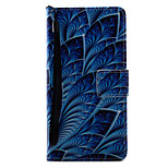 For Xperia X XA XP XZ Case Cover Blue Flowers Pattern Painting PU Leather Material Card Stent